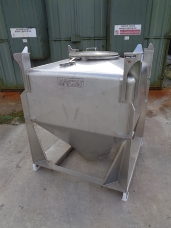1,000 Litre Matcon Stainless Steel IBC