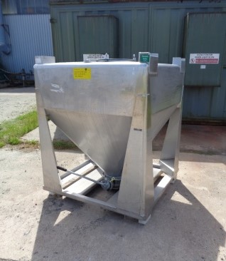 1,000 Litre IBC Stainless Steel Bins