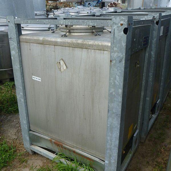 1,000 Litre Stocklin Stainless Steel Storage IBC Tank