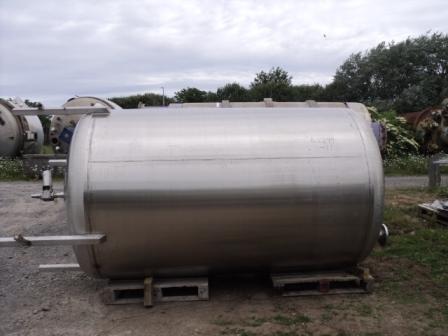 5,000 Litre Giusti Stainless Steel Vertical Storage Vessel, 1700mm Dia x 2450mm Straight Side