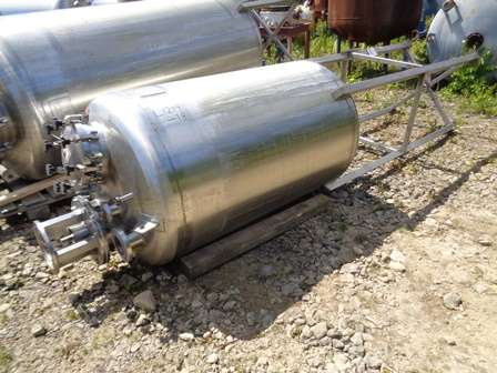 1,000 Litre Giusti Stainless Steel Vertical Mixing Vessel, 1000mm Dia x 1400mm Straight Side