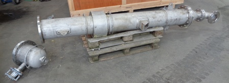 8.8 Sq. M. Graham Hart Vertical Shell and Tube Heat Exchanger