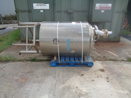 1,000 Litre Reo Stainless Ltd Stainless Steel Vertical Vessel