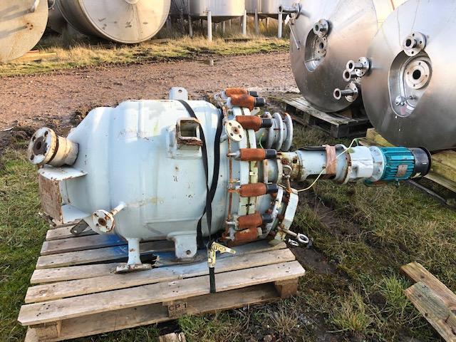 160 Litre, FV/6.6 Bar Internal, FV/6.6 Bar Jacket, Pfaudler Balfour Glass Lined Reactor