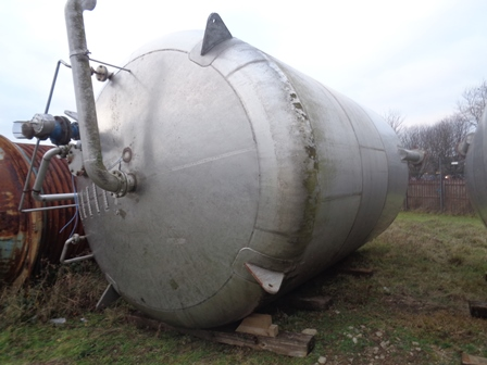 50,000 Litre Stainless Steel Vertical Storage Vessel