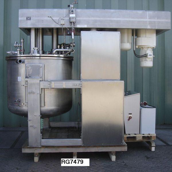 Reconditioned Brogli Model Mh-2000 304 Stainless Steel Multi-homo Vacuum Processing Vessel