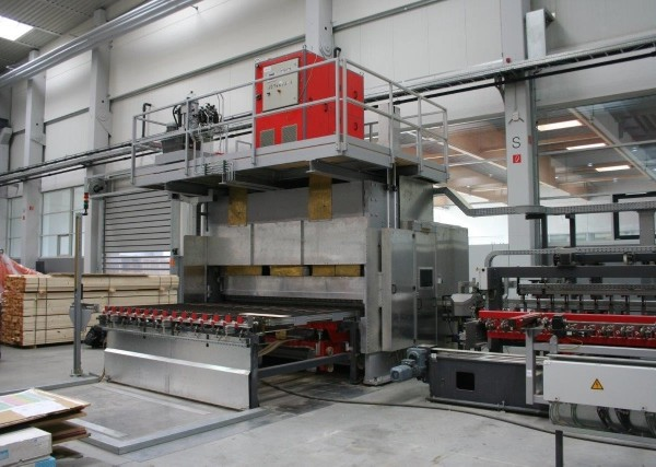 High Frequency Lamella Gluing Line