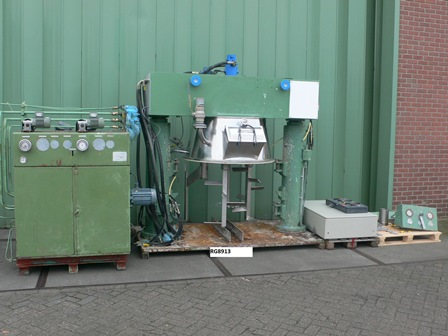 1,000 Litre 49 HP Talleres Miralles Stainless Steel Planetary Mixer