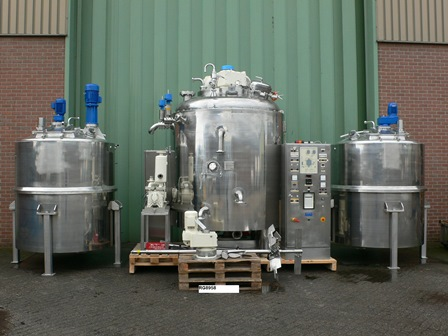999 Gallon Becomix Stainless Steel Vacuum Processing Vessel