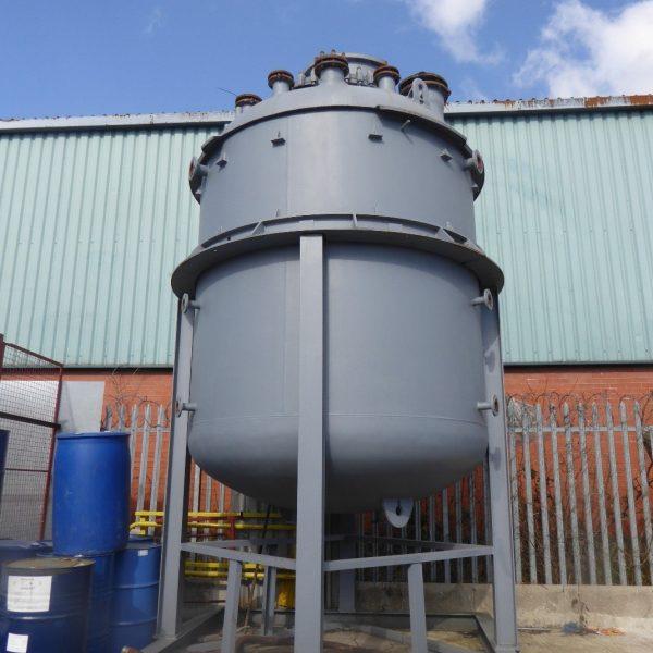 12,500 Litre, 6 Bar Internal, 6 Bar Jacket, Pfaudler Glass Lined Reactor