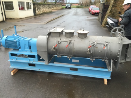 300 Litre Morton Model KM 300D-2MZ Stainless Steel PTFE Lined Ploughshare Mixer