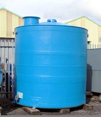 11,000 Litre Vertical Liquid Storage Tank, 2500mm Dia x 2460mm Straight Side