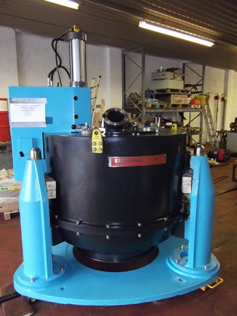 49″ X 28″ Broadbent 316L Stainless Steel Basket Centrifuge
