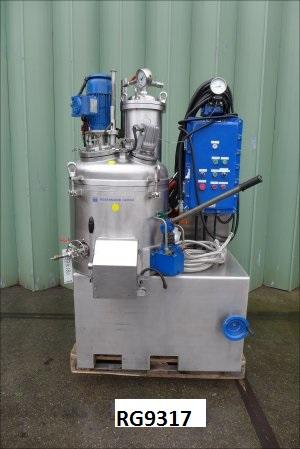 90 Liter Rosenmund Guedu Type GRD-90 B Stainless Steel 316L Vacuum Pan Dryer
