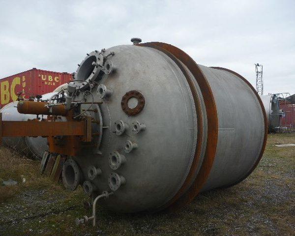 15,000 Litre, 3 Bar Internal, 304 Stainless Steel Reactor