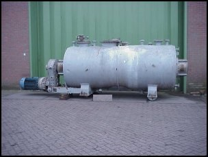 8000 Liter Capacity Lödige Type FKM-8000D Stainless Steel Paddle Dryer