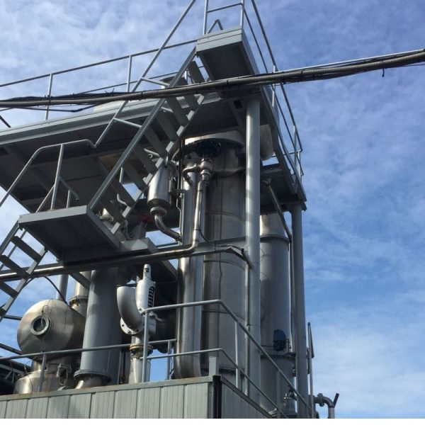 Used Evaporator made by Ing. Rossi with Capacity 150 Tons/Day Feedstock