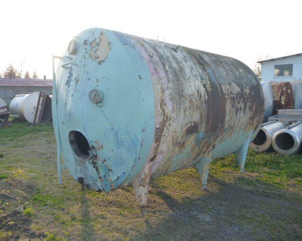 10000 Litres Stainless Steel Horizontal Storage Tank