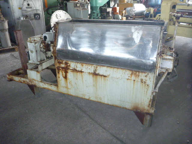 Used 200 Litre Stainless Steel Twin Shaft Paddle Mixer