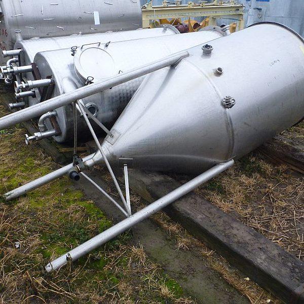 1400 Liters Stainless Steel Vertical Storage Tank