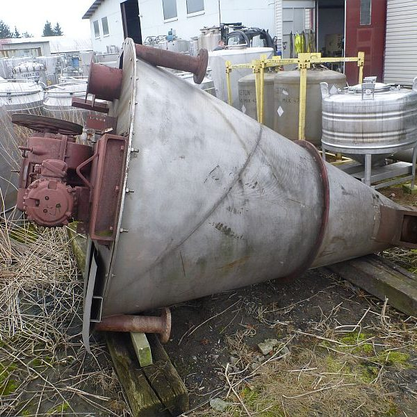 Second hand stainless steel conical mixer by NAUTA with working volume 1000 l