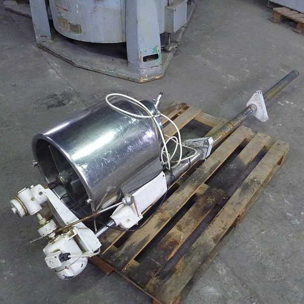 50 Liter Stainless Steel Vertical Mixing Tank 390mm Dia x 380mm Straight Side