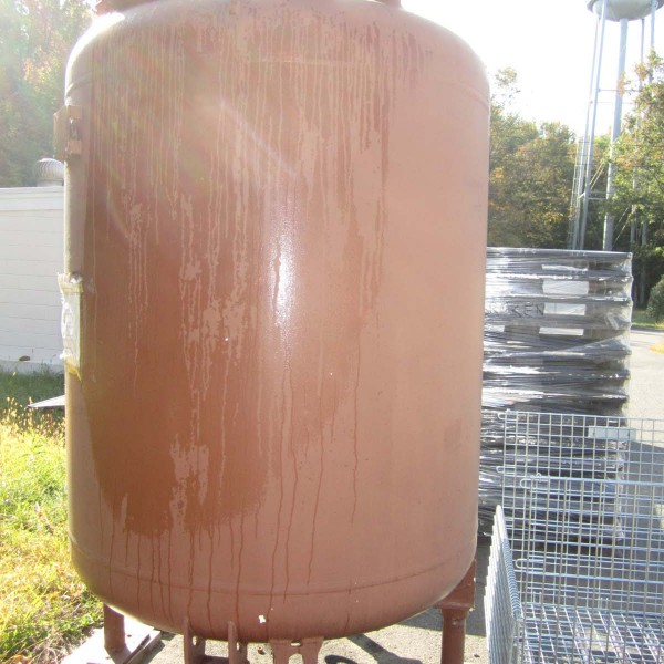 1,000 Gallon, 50 PSI/FV, Glass Lined Storage Tank