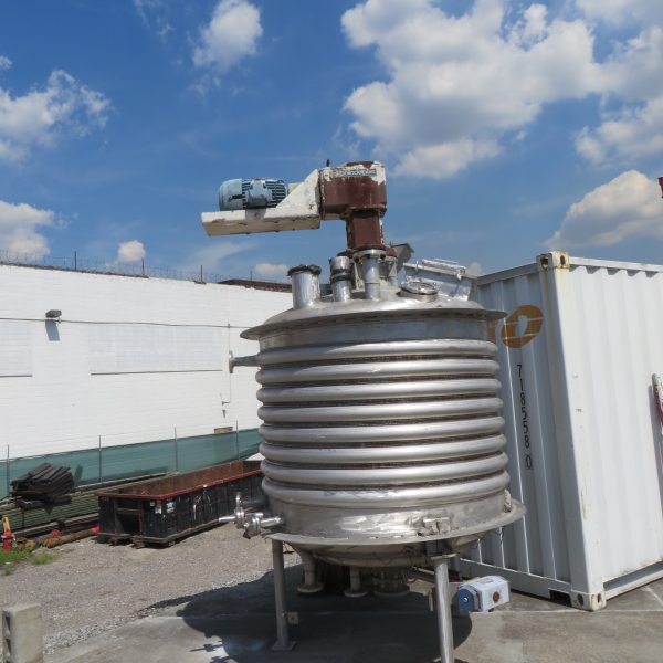 600 Gallon 316 Stainless Steel Mix Tank, 5′ Dia. X 4′ Straight Side