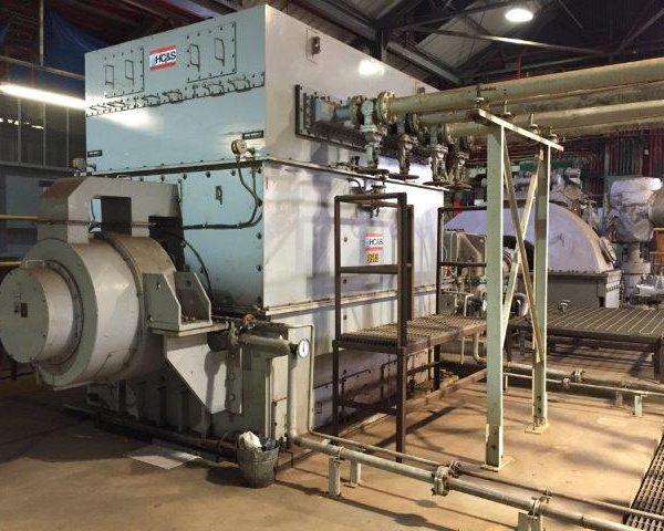 20 MW Mitsubishi Turbogenerator with Meiden synchronous generator 1800 rpm