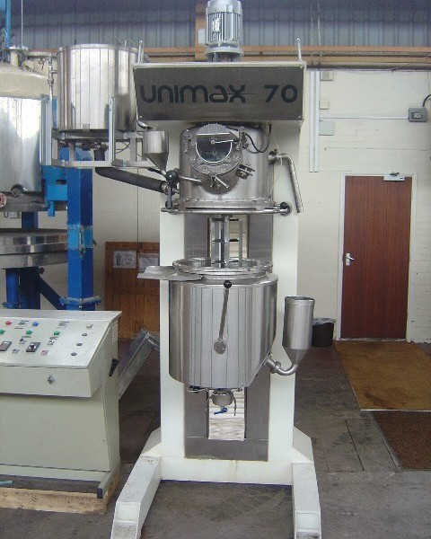 70 Litre 4 HP Cucco Unimax 70 Stainless Steel Jacketed Planetary Mixing Vessel