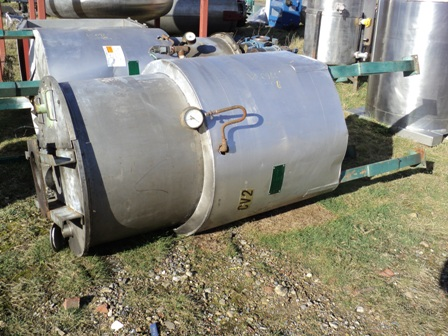 800 Litre H. Pontiflex & Sons Stainless Steel Vertical Jacketed Mixing Vessel, 1000mm Dia x 1700mm Straight Side