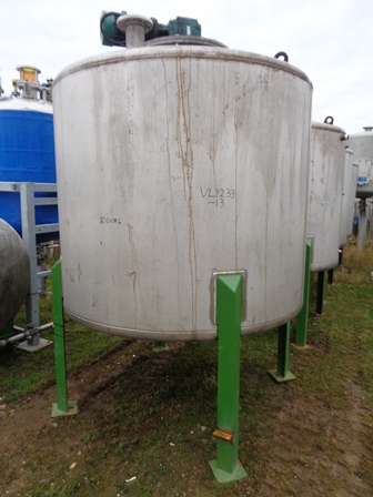 4,500 Litre Raynot 304 Stainless Steel Vertical Mixing Vessel, 1900mm Dia x 1500mm Straight Side