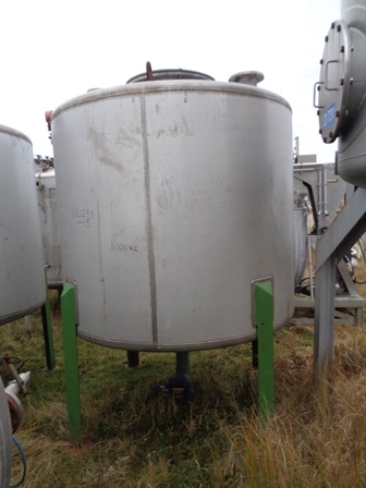 4,500 Litre Raynot 304 Stainless Steel Vertical Storage Vessel, 1900mm Dia x 1500mm Straight Side