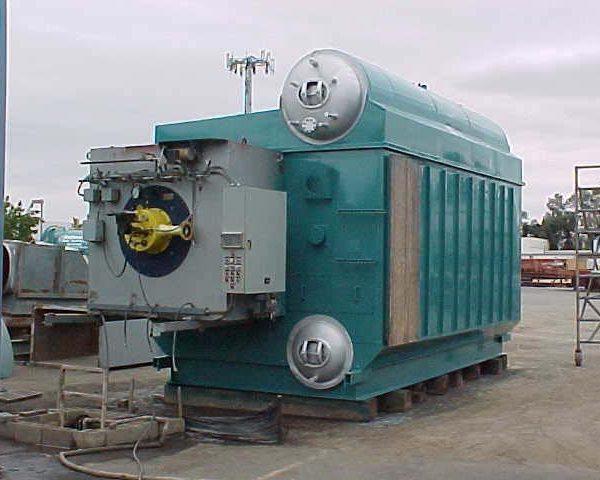 70,000#/Hour 350 PSI Nebraska Packaged Watertube Boiler