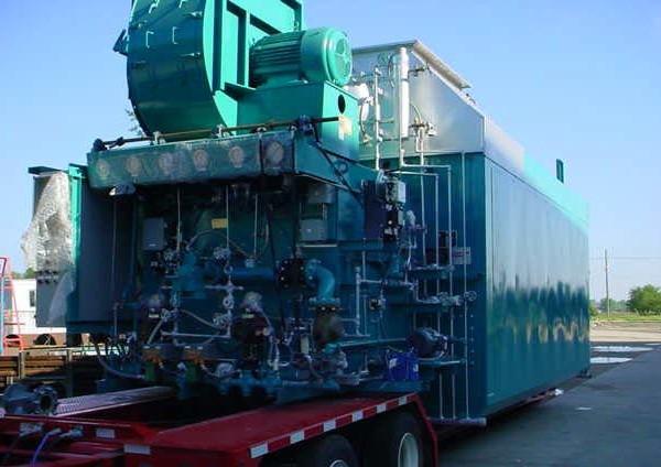 82,500#/Hour 350 PSI Nebraska Packaged Water Tube Boiler