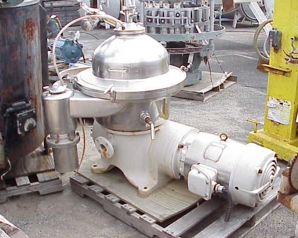Westfalia SAMR5036 (SA-20) Stainless Steel Automatic Desludging Disc Type Centrifuge
