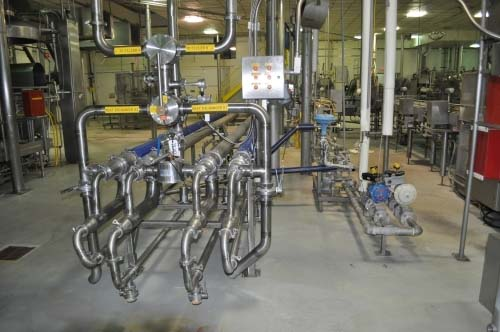 89 Sq. Ft. APV Stainless Steel Spiral Triple-Tube Heat Exchanger