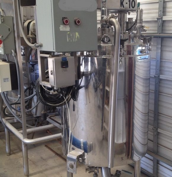 100 Gallon 30 PSI Internal, 100 PSI Jacket Stainless Steel Double Motion Mix Kettle