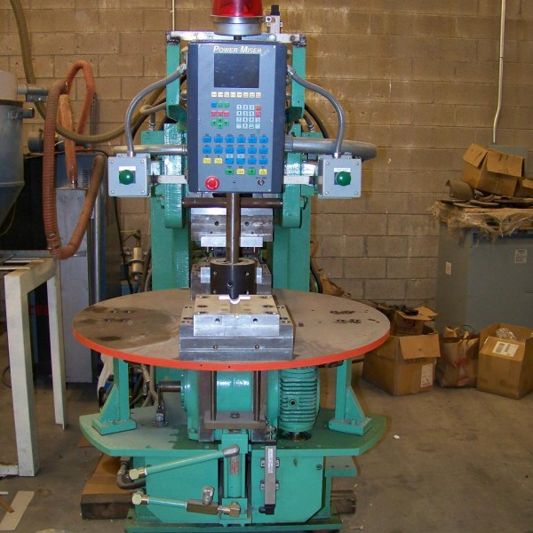 200 Ton 15 Oz Shot Vertical True Blood Injection Molder 4-Station