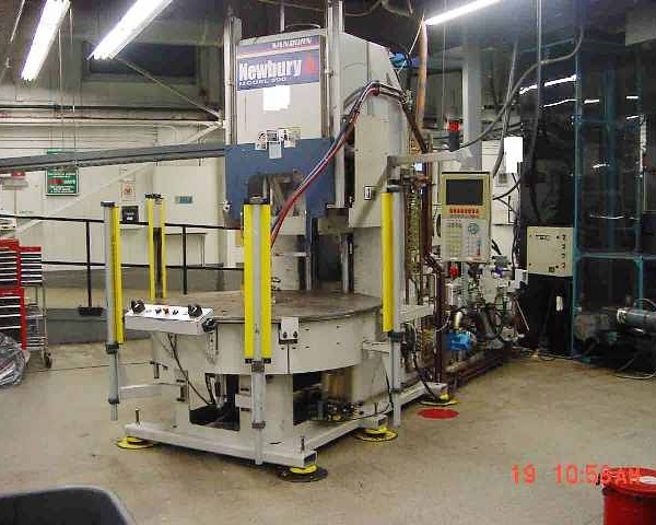 200 Ton 9 Oz Shot Newbury  4-Station Vertical Rotary Injection Molder